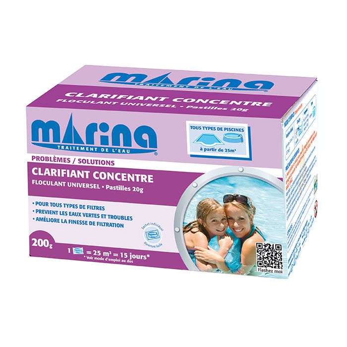 Clarifiant concentré Marina - 10 pastilles de 20 gr