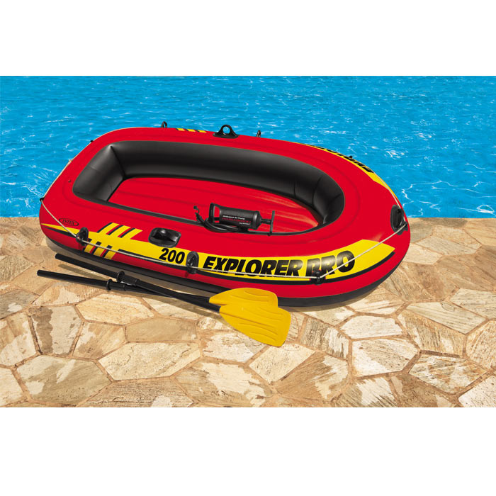 Bateau gonflable intex explorer pro 200 rames raviday piscine - Bateau gonflable 4 places ...