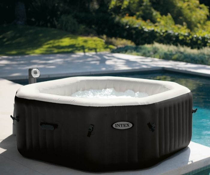 Spa intex gonflable pure spa jets et bulles octogonal for Jacuzzi hinchable carrefour