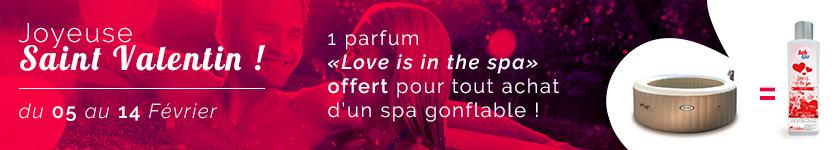 1 parfum offert pour l'achat d'un spa gonflable