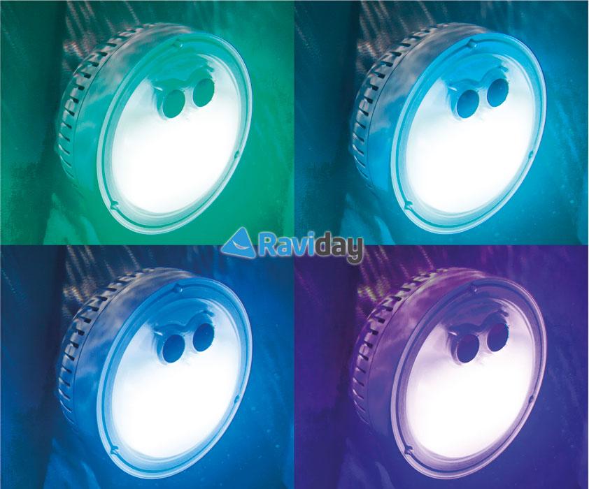 Spot Pure Spa Intex à piles, lumière d'ambiance pour spa gonflable Intex