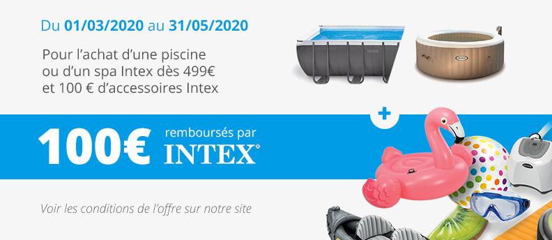 Offre de remboursement Piscine Intex 2020