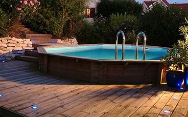 Le rayon piscine en bois
